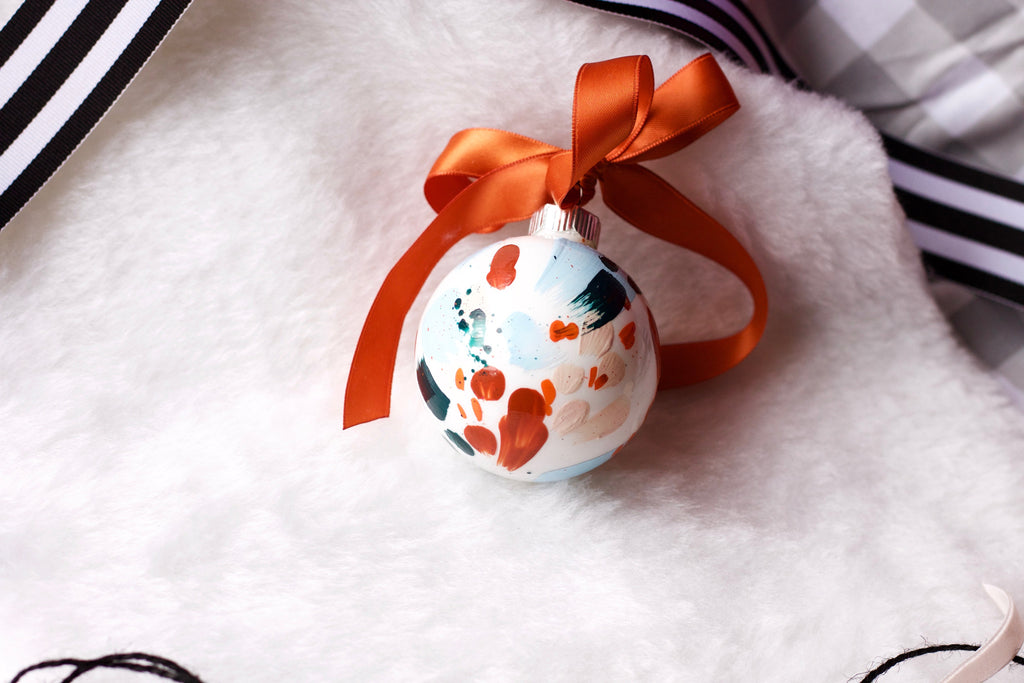 Rusted No. 5  - Hand Painted Holiday Ornament - Holidays 2016