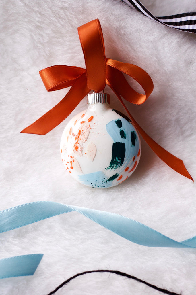 Rusted No. 3  - Hand Painted Holiday Ornament - Holidays 2016