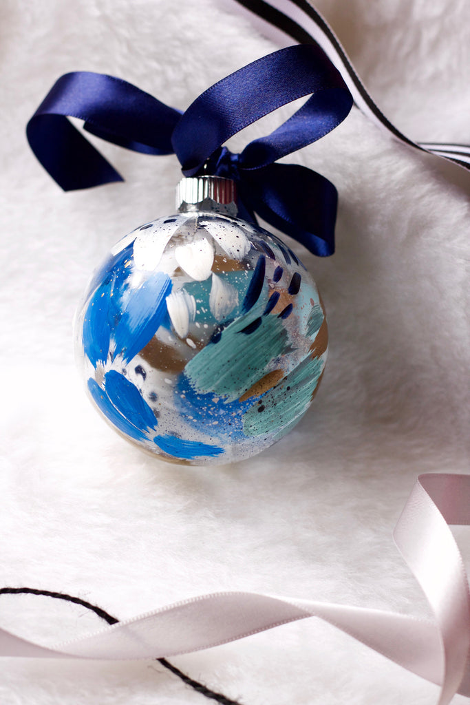 Glacier No. 15  - Hand Painted Holiday Ornament - Holidays 2016