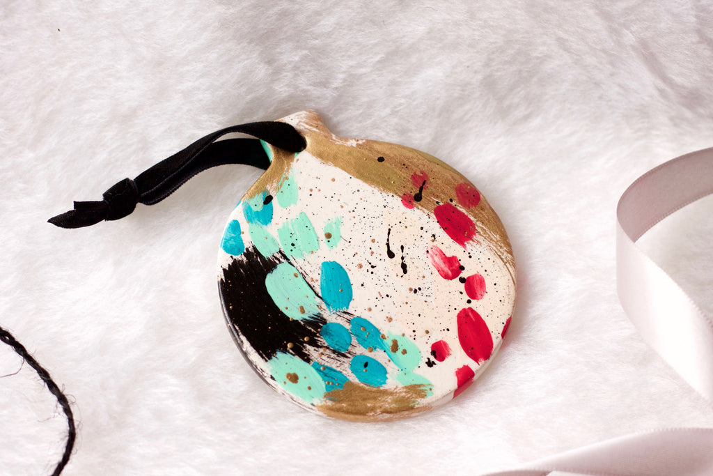 Crackle No. 3 - Hand Painted Holiday Ornament - Holidays 2016