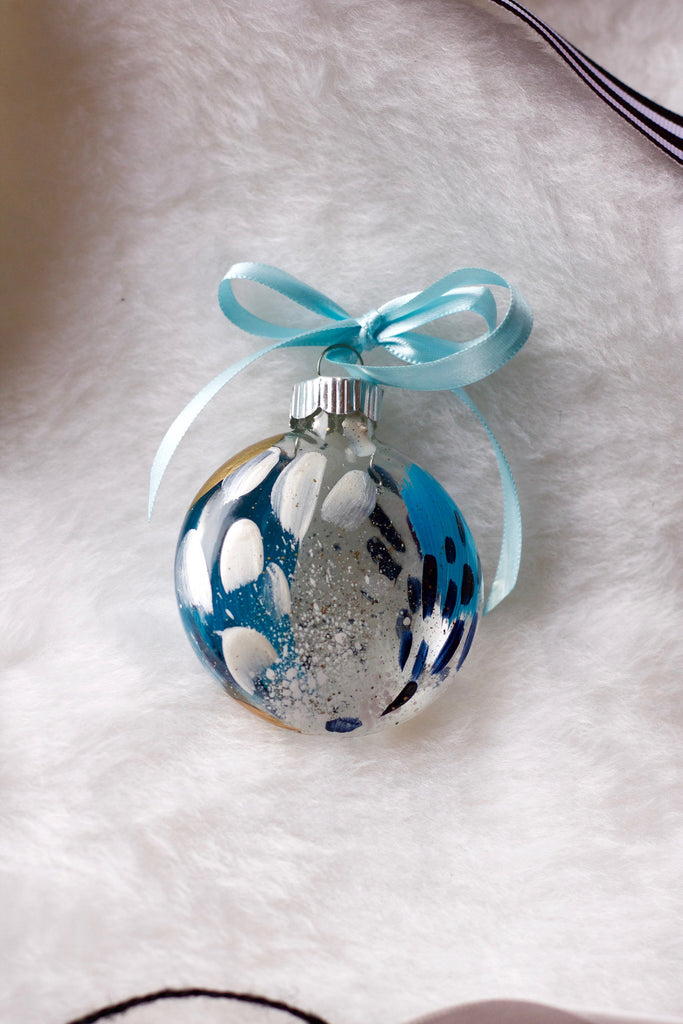 Glacier No. 13  - Hand Painted Holiday Ornament - Holidays 2016