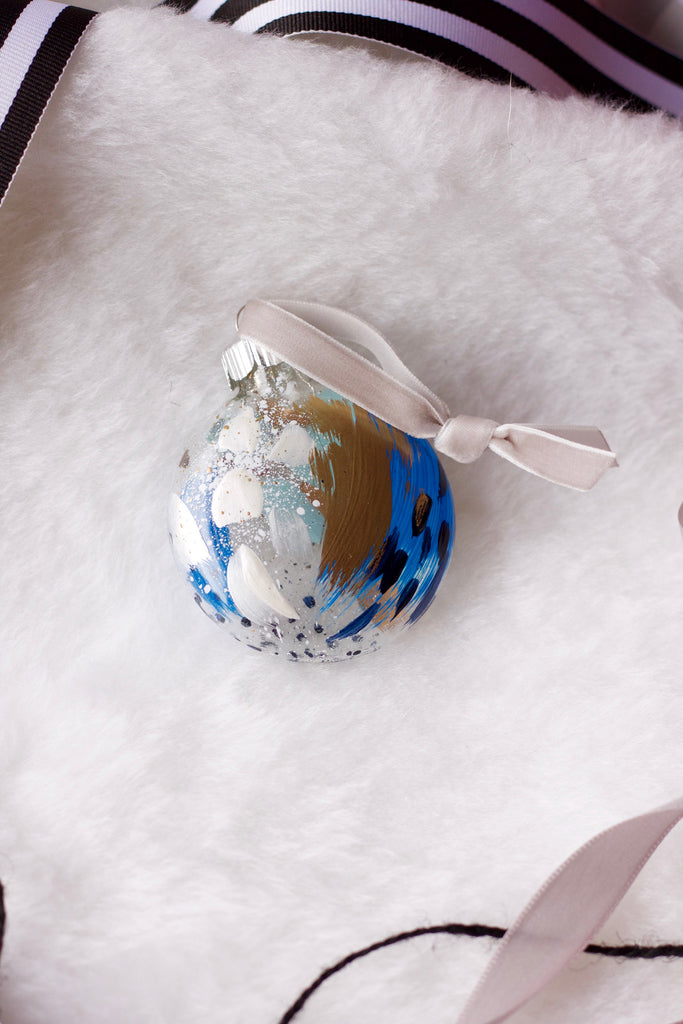 Glacier No. 11  - Hand Painted Holiday Ornament - Holidays 2016