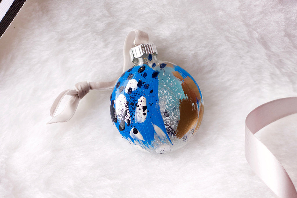 Glacier No. 8  - Hand Painted Holiday Ornament - Holidays 2016
