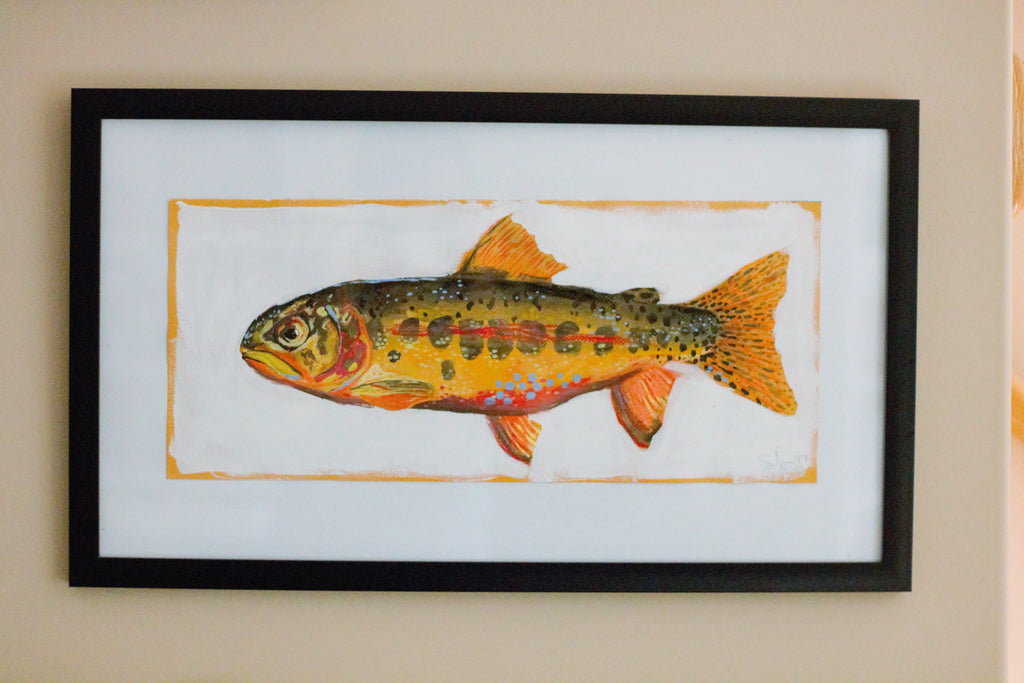 Smoke Skies Brown Trout - Little Fishes Collection
