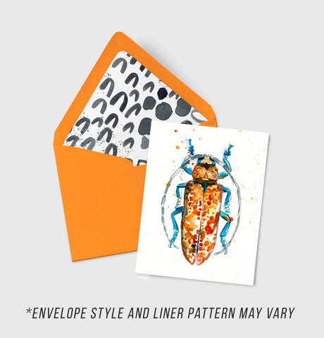 Longhorn Beetle - Morphology Collection - A2 Card