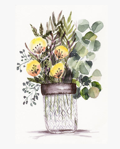 Diamond Jar Blooms 2 - Wildflowers Collection
