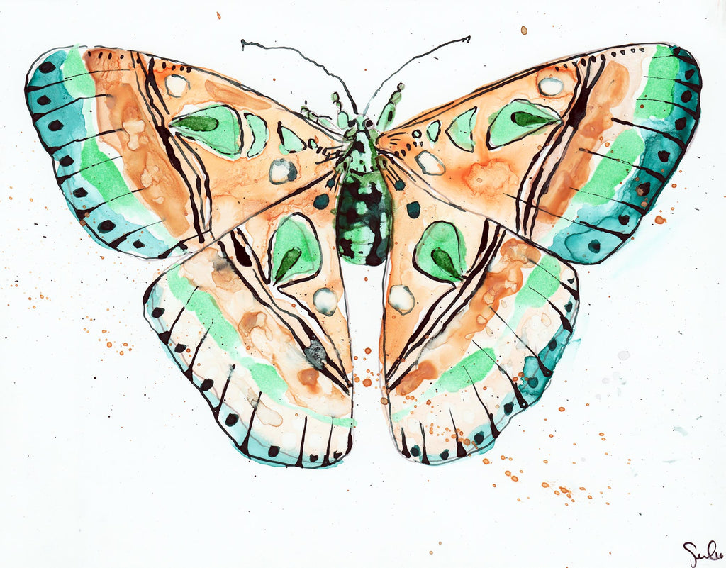 Luna Moth - Watercolor Wings Collection