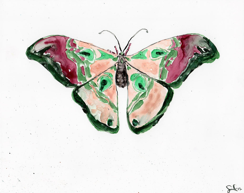 Emerald Luna Moth - Watercolor Wings Collection