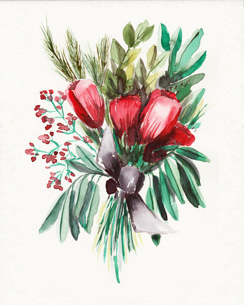 Winter Tulips in Red - Wildflowers Collection
