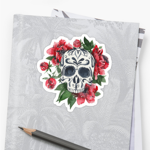 Peony Bloom - Deathday Bouquet - Vinyl Sticker