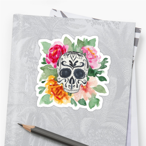 Wild Roses - Deathday Bouquet - Vinyl Sticker