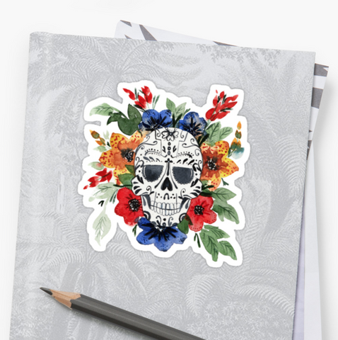 Briar Rose - Deathday Bouquet - Vinyl Sticker