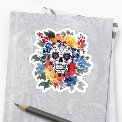 Wildflower Blossom - Deathday Bouquet - Vinyl Sticker