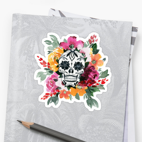 Sunrise Blossom - Deathday Bouquet - Vinyl Sticker