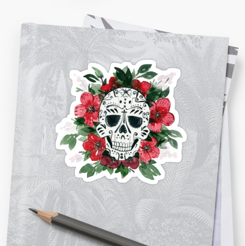 Cherry Blossom - Deathday Bouquet - Vinyl Sticker