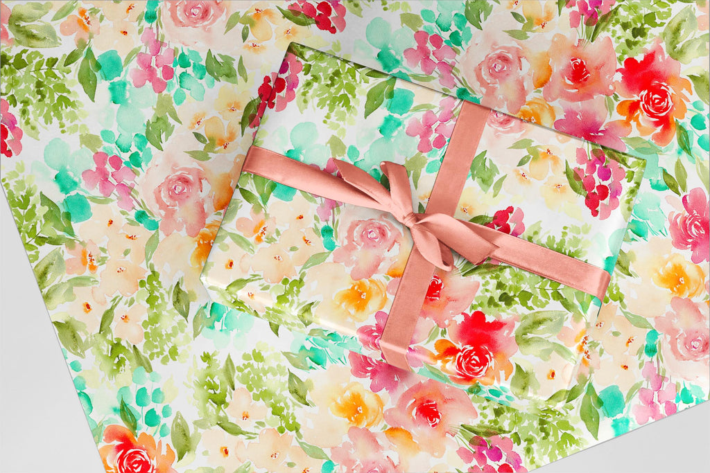 Summer Roses Wrapping Paper - Wildflowers Collection