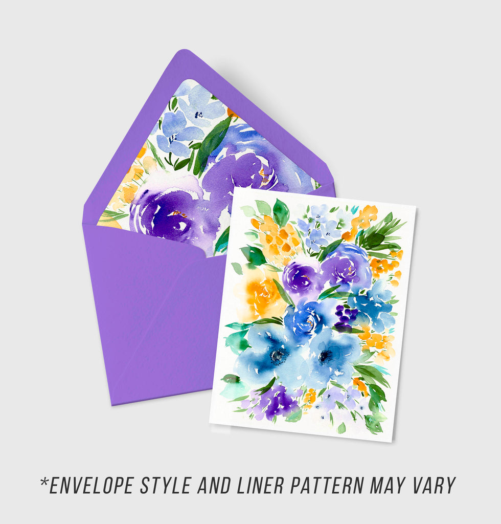 Violet Dreams - Wildflowers Collection - A2 Card