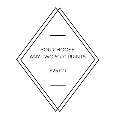 "Any Two 5"" x 7"" Little Fishes Prints - You Choose!"