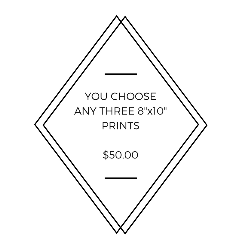 "Any Three 8"" x 10"" Little Fishes Prints - You Choose!"