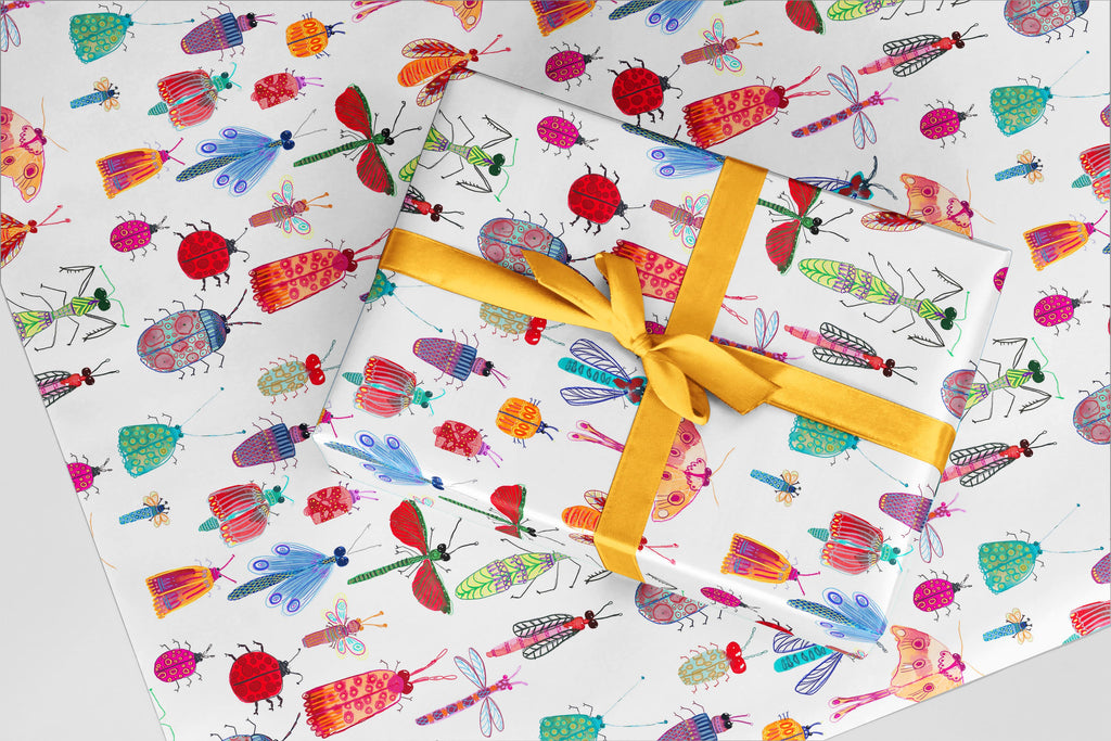 Adventure Bugs Wrapping Paper - Little Bugs Collection