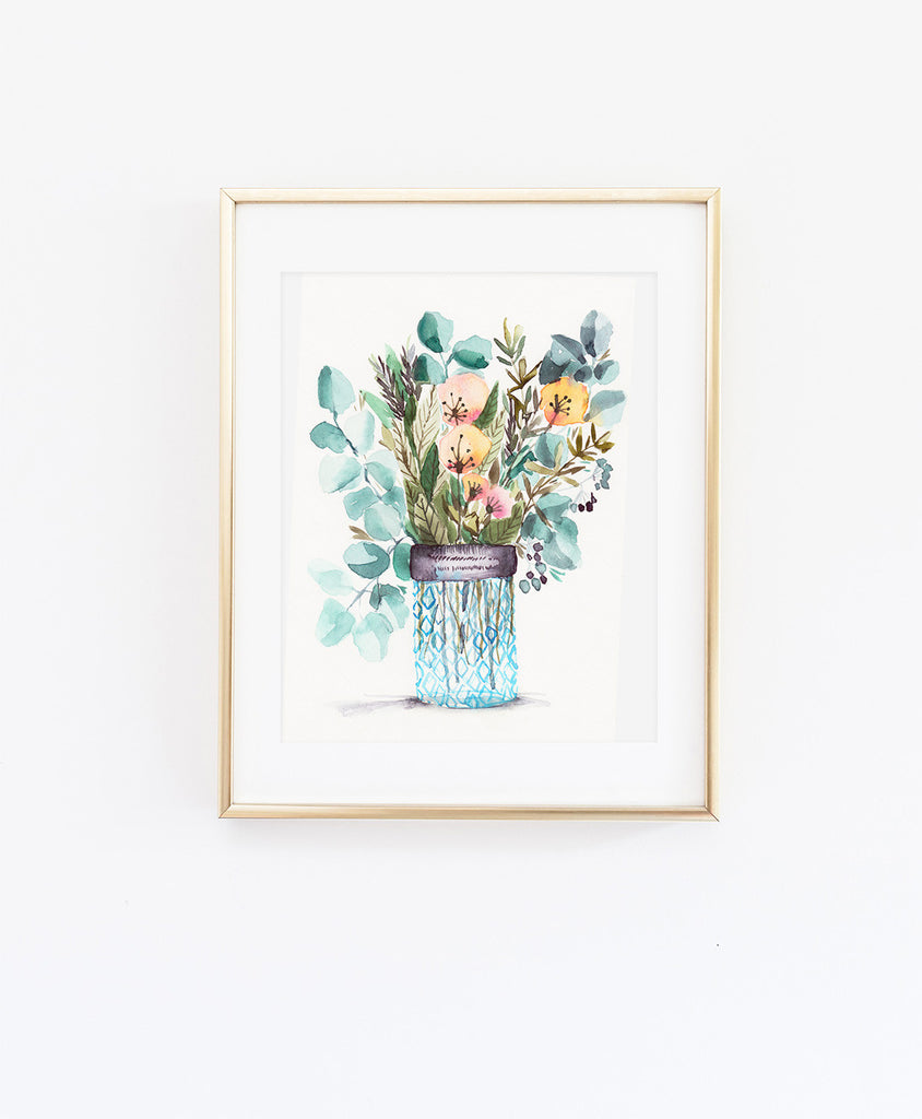 Eucalyptus and Dandelion Blooms - Wildflowers Collection