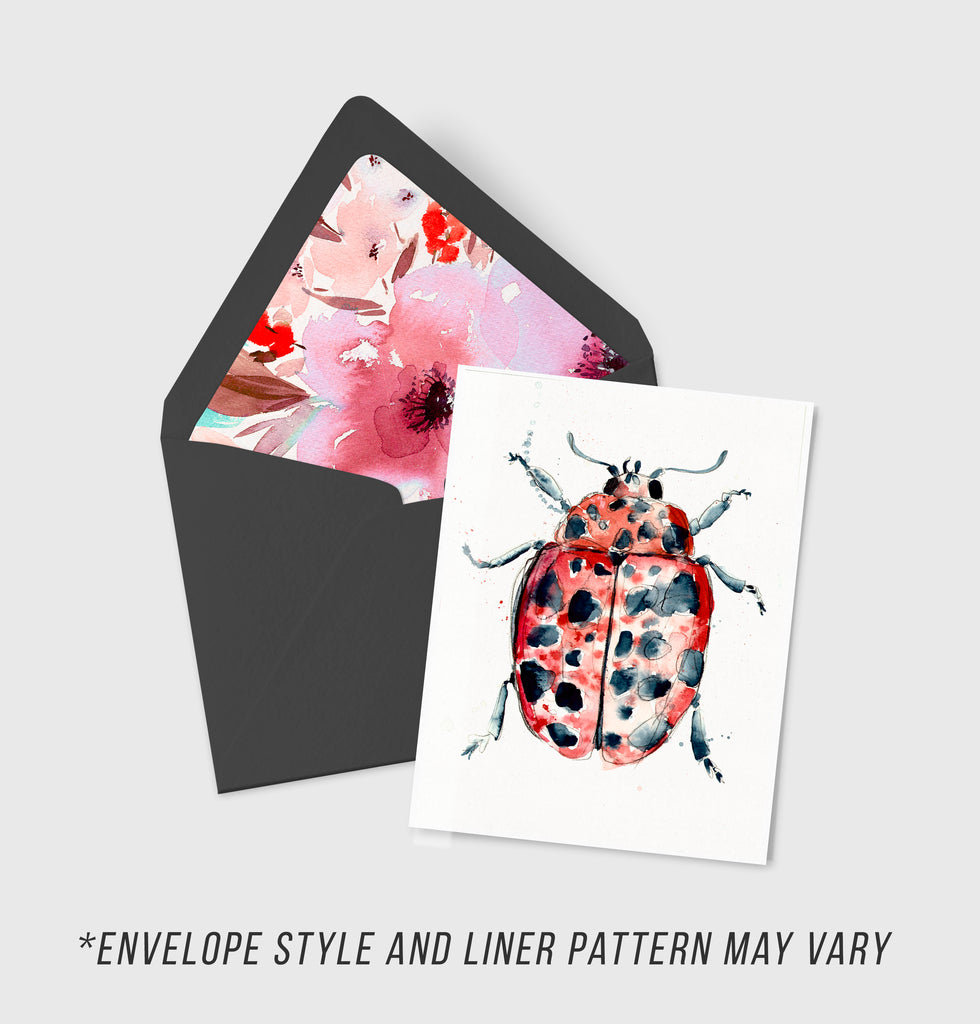 Scarlett Lady Bird - Morphology Collection - A2 Card