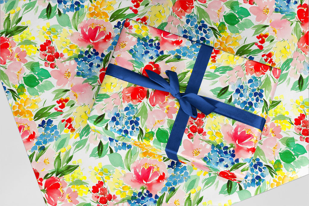 Tea for Two Wrapping Paper - Wildflowers Collection