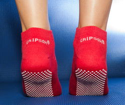 Twin Pack Falls Prevention Socks Gripsox - Ankle