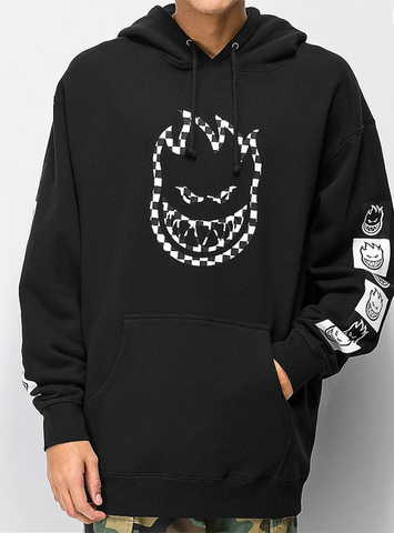 Spitfire Big Head Check Hoodie