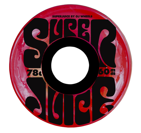 OJ Super Juice Wheels, Trans Red, 60mm