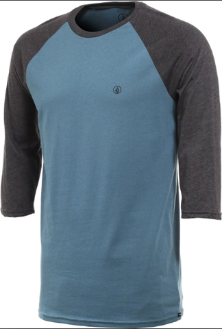 Volcom Solid Heather 3/4 Raglan Tee