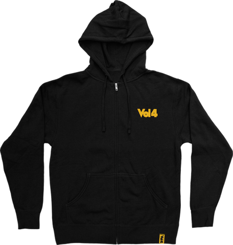 Vol4 Logo Zip Hoodie - Ollie Around