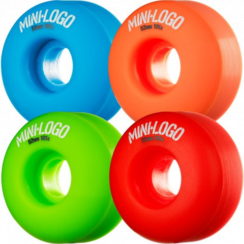 Minilogo Skateboard Wheel, Multi, 52mm