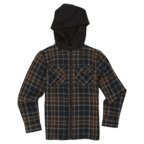 Vans Higgins Youth Hooded Flannel Shirt