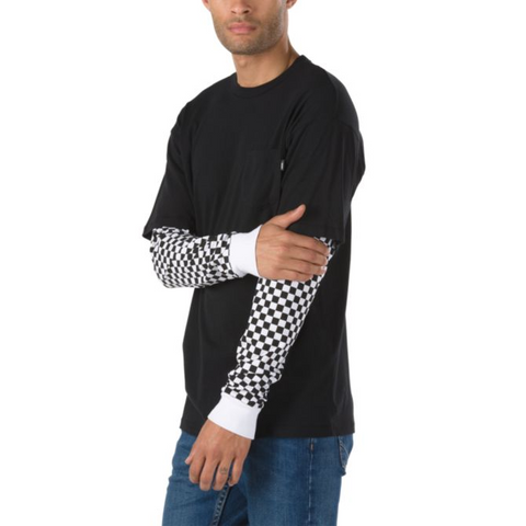 4aec39a87ba Vans Checkered Sleeve Two-Fer LS Tee – Ollie Around