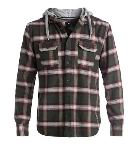 DC Runnels Hooded Flannel Shirt