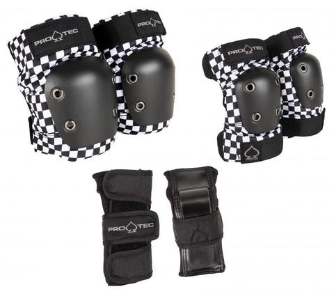 Pro Tec Jr 3 Pack Pad Set, Checker