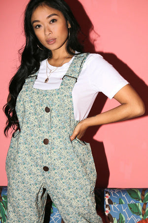 Dilly Dally Dungaree's - Green