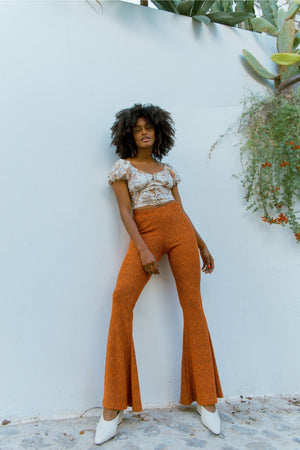 Alba Bell Bottoms - Burnt Orange