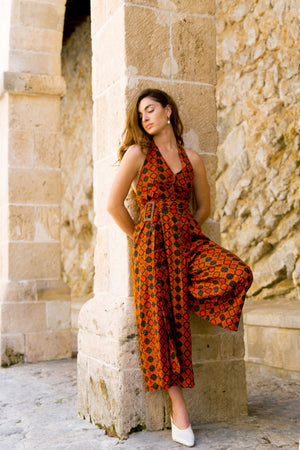 Farrah Jumpsuit - Orange