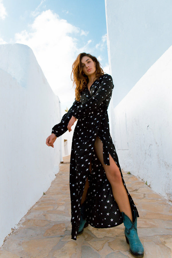 Kalani wrap dress - Star