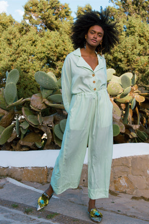 Pajama Jumpsuit - Green