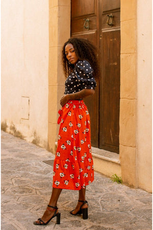 Fiorella Skirt - Orange