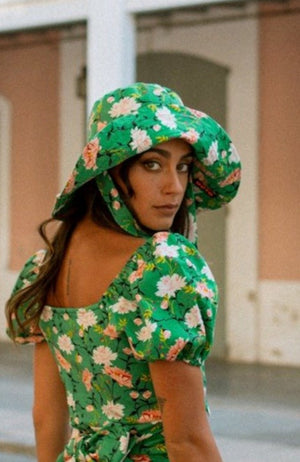 BRIMA Bucket Hat - Green floral