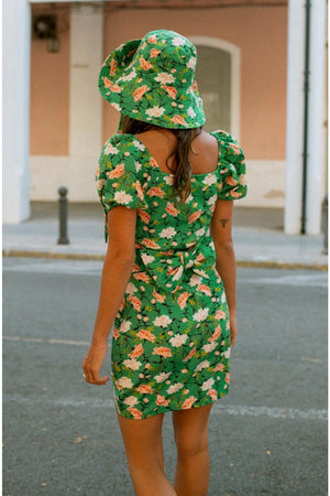 Carla mini dress - Green floral