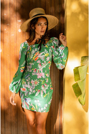 PALOMA Dress - Green Tropical