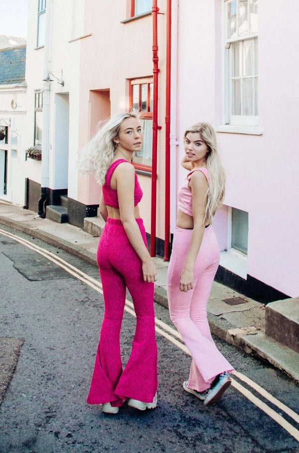 Alba Bell Bottoms - Hot Pink