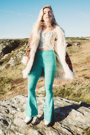 Alba Bell Bottoms - Mint Green