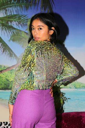 Emerald Short Sequin Jacket - OOTO