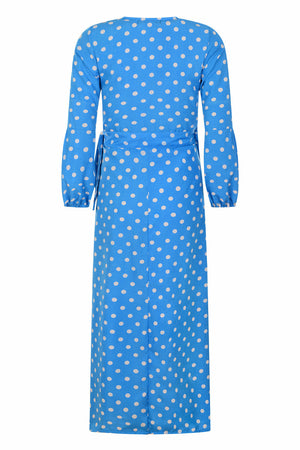 Kalani wrap dress - Blue - OOTO